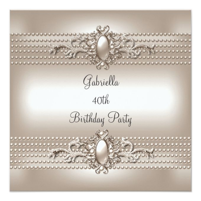 1342 best 40th Birthday Invitations images – 40th Birthday Invitation Cards