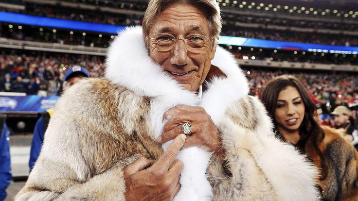 Joe Namath's fur coat is Super Bowl winner on Twitter