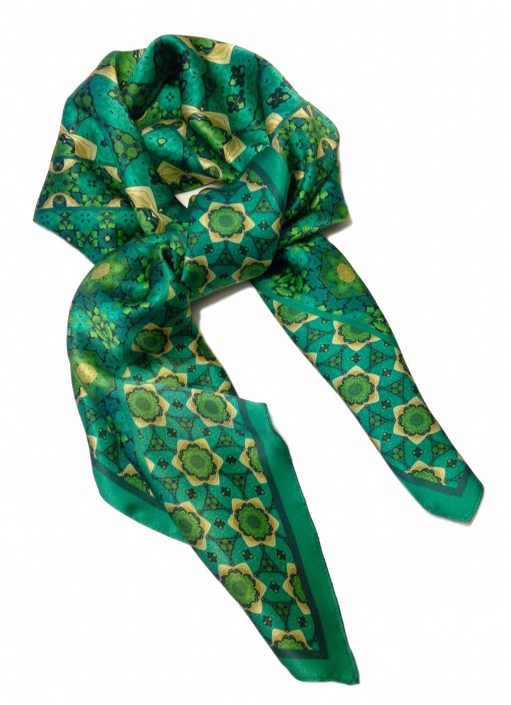 Silk scarf by Sandra Smith Studii, Rio 2015