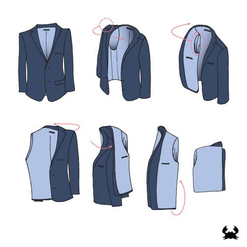 How to pack a blazer - every man should know this!