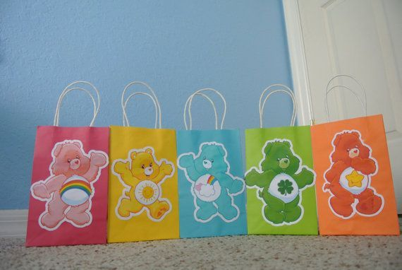 care bear party bags | visit etsy com