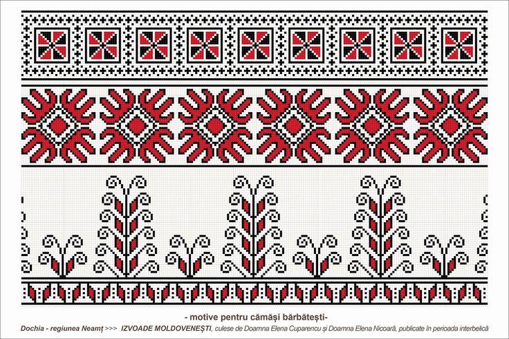 Semne Cusute: romanian traditional motifs - MOLDOVA - Neamt, sat: Dochia