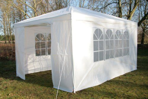 Waterproof Gazebo White 3x4m Party Tent Marquee 4 Side Walls with 2 Window Sides  | eBay