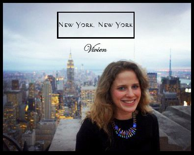 Vivien Campbell wearing her Oleta necklace in the best city in the world, New York!!