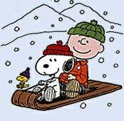 Winter.   (no words)   --Peanuts Gang/Snoopy, Woodstock, & Charlie Brown