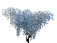 3d frozen tree hd model