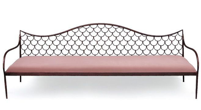 Emery & Cie's fish scale wrought iron bench