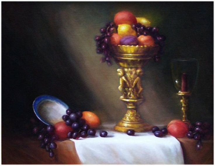 A Formal Still-Life, 14x18, oil. Available in my Ebay Store.