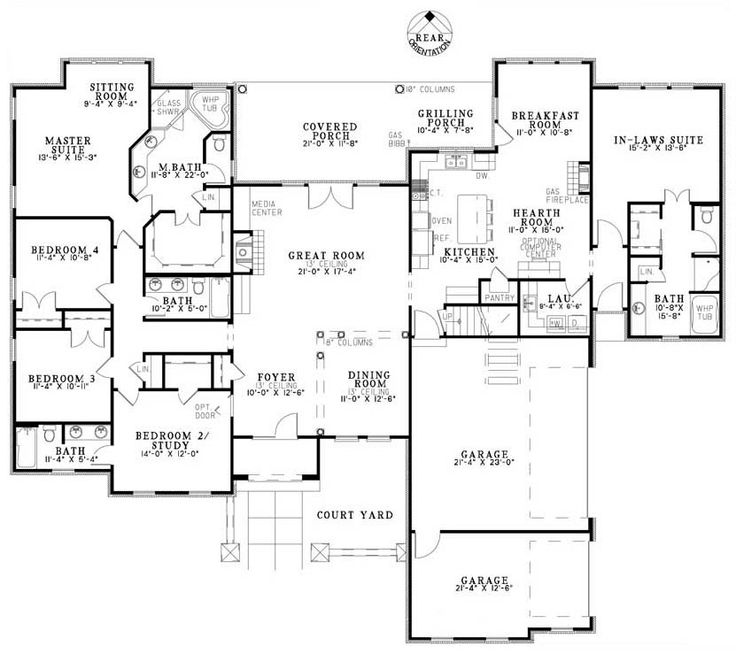 87 best House Plans images – One Floor House Plans With Inlaw Suite