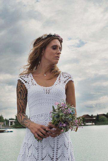 45 besten Brautkleider gehäkelt - crochet wedding dress Bilder auf ...