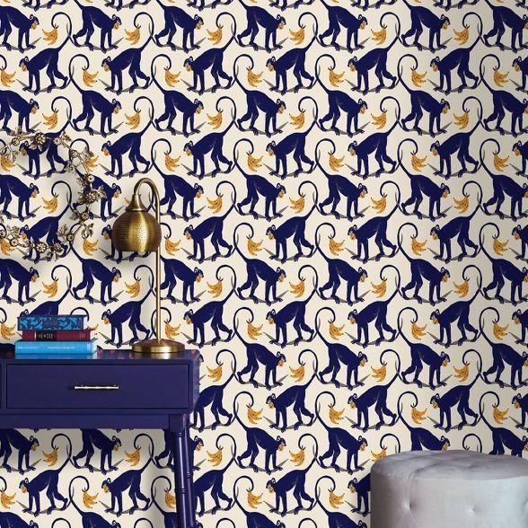 Monkey Play Peel Stick Wallpaper Opalhouse Peel And Stick Wallpaper Wallpaper Bathroom Walls Vinyl Wallpaper