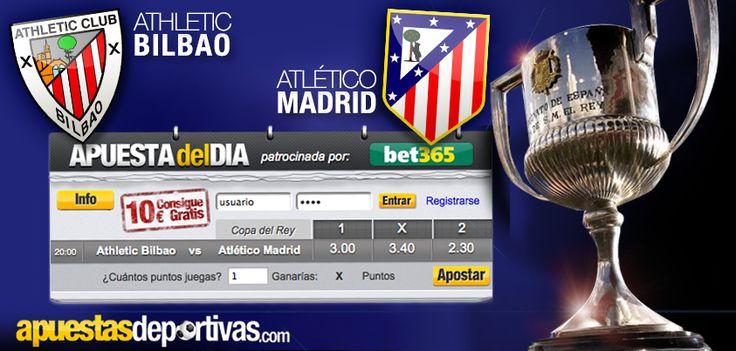 Hoy se enfrentan en Copa del Rey el Athletic de Bilbao y el Atlético de Madrid, ¿os gustaría apostar gratis en este partido? Podéis hacerlo a través de la Apuesta del Día, ¡suerte con vuestra participación! #juego