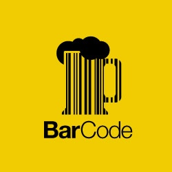 Bar code play-on-words logo #pun
