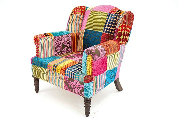 fauteuil patchwork d co pinterest patchwork. Black Bedroom Furniture Sets. Home Design Ideas