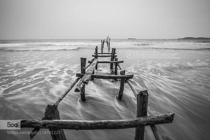 Abandoned Bridge At Tang Island by mardy Suong #Cambodia #Seascape #Sunrise