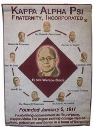 Display Greek pride with this woven wall hanging that celebrates the founding of Kappa Alpha Psi Fraternity, Inc..