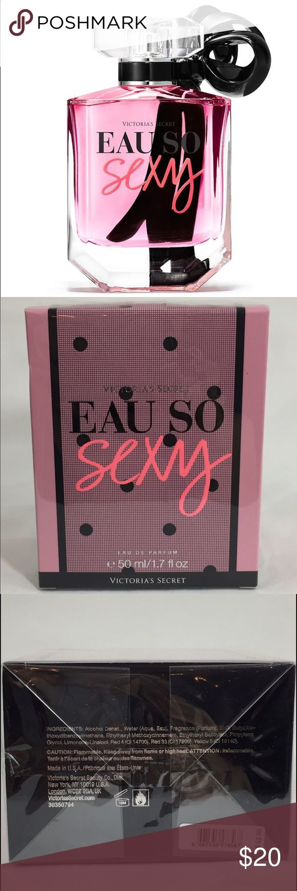 """""""Eau So Sexy"""" by Victoria's Secret Parfum 1.7oz 🎀 Fruity and floral, gentle and feminine. This is brand new and in box, Eau de Parfum 1.7oz. 🎀  The sale of this item helps fund Wheelchair Sports Federation's sled hockey programs as a fundraiser. Thank you for supporting adaptive athletes!  🏒 👏🏼 ❤️ 👏🏼 🏒 Victoria's Secret Makeup"""