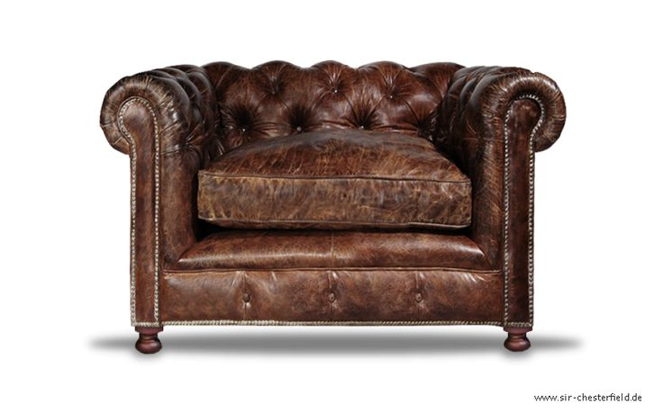Chesterfield Clubsessel Braun Sessel