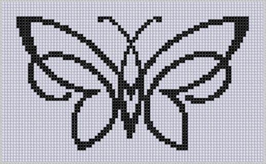 Free Butterfly Cross Stitch Patterns | FREE: Butterfly 5 Cross Stitch Pattern