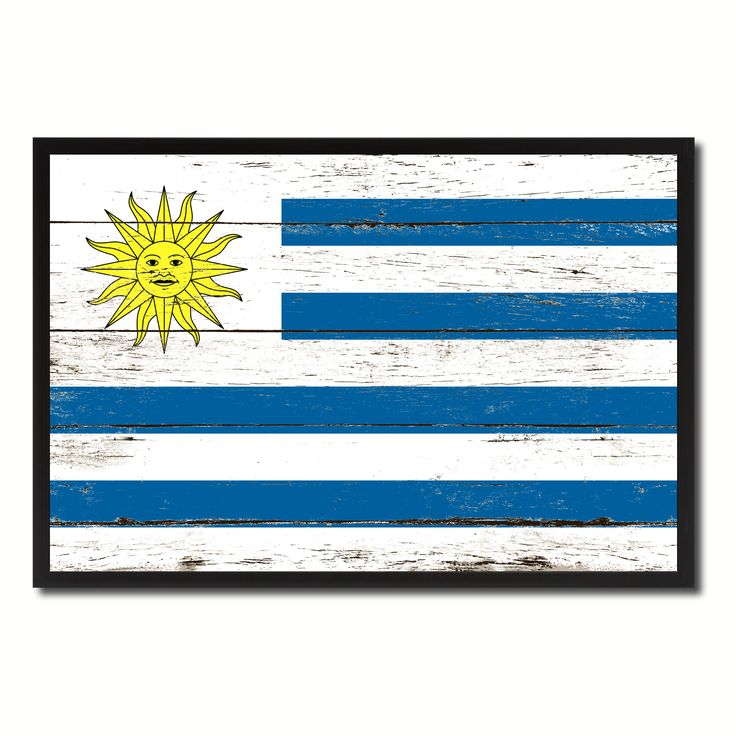 Uruguay Country National Flag Vintage Canvas Print with Picture Frame Home Decor Wall Art Collection Gift Ideas
