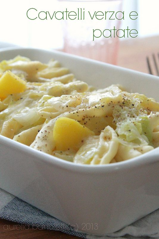cavatelli verza e patate #MangiareMatera http://www.profumincucina.com/2013/11/cavatelli-verza-e-patate-per.html