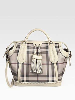Burberry Medium Ellers Check Tote Bag