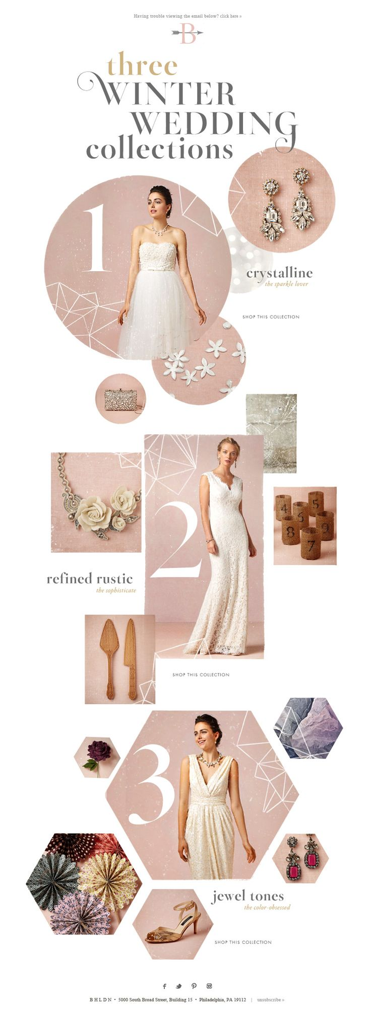 Winter Wedding Collections | BHLDN | Anthropologie Weddings | Design | November 2013 | Editorial | Email