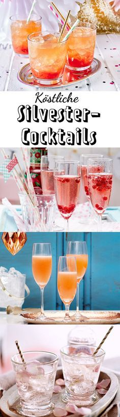 Statt #Sekt gibt es zum Jahreswechsel spritzige #Silvester-Cocktails! Lass dich von unserer Auswahl an Cocktail-Rezepten inspirieren.