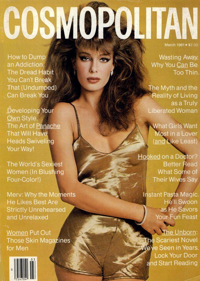 KELLY LEBROCK BY SCAVULLO Cosmopolitan March 1981...remember it well; totally my hair!!!