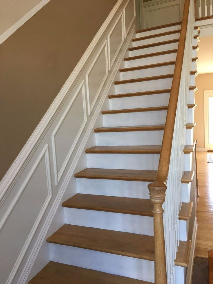 An easy project to change your boring white stair's kick plate or front into something out of a magazine. You're neighbors will be so envious!! Begin by vacuumi…