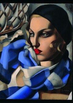 Tamara De Lempicka - L'Echarpe Bleue . 1930
