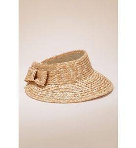 Visère en paille noeud - chapeau