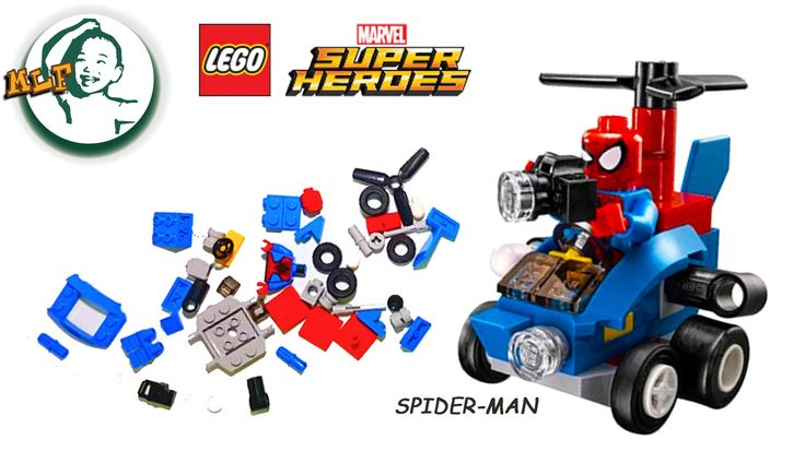 Marvel Super Heroes Lego - Sipder-man step by step lego building instructions for kids | 76064