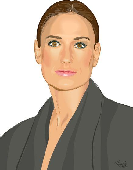 "Digital Portrait ""Demi Moore"", Wendy&Rita Magazine."