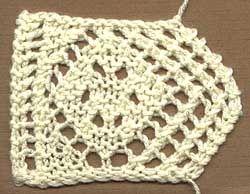 Free Knitting Pattern: Diamond Edging