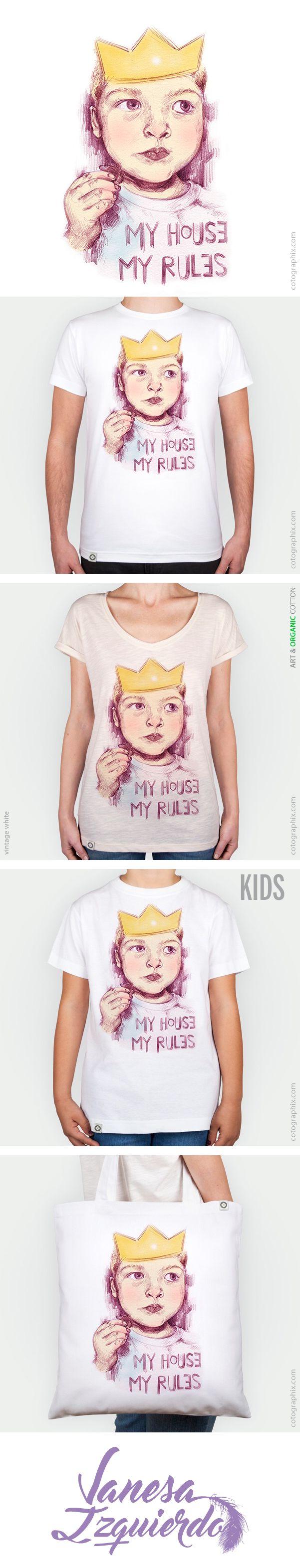 My House My Rules Diseño disponible en Cotógraphix https://cotographix.com/es/artistas/artista/vanesaizquierdo/ Ilustración original de Vanesa Izquierdo