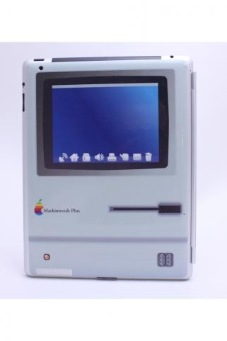 Old School Mac Plus iPad 2 Skin
