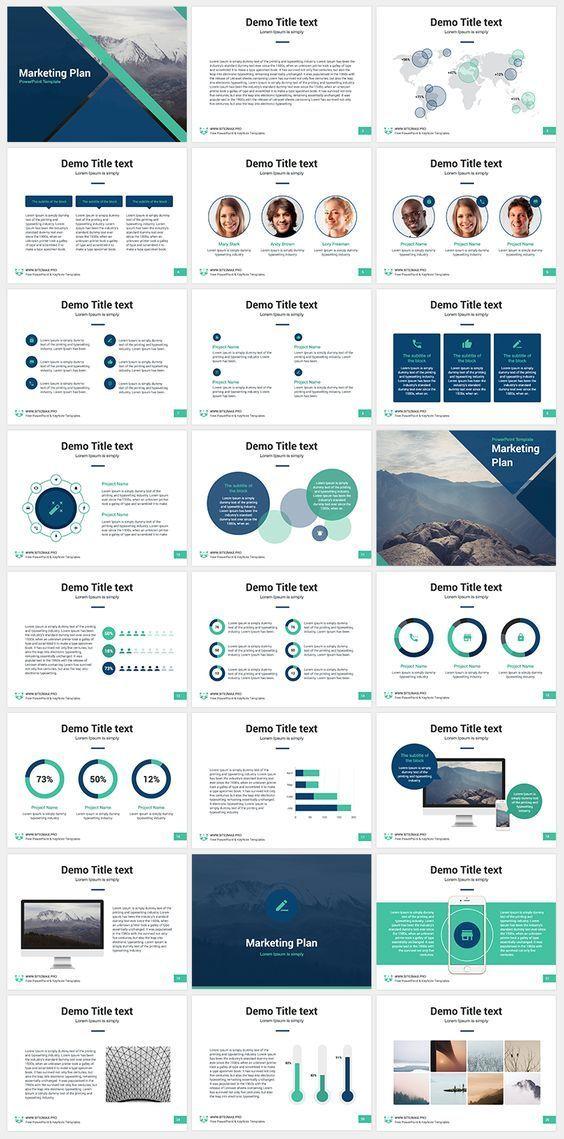 marketing plan free keynote template presentation slides