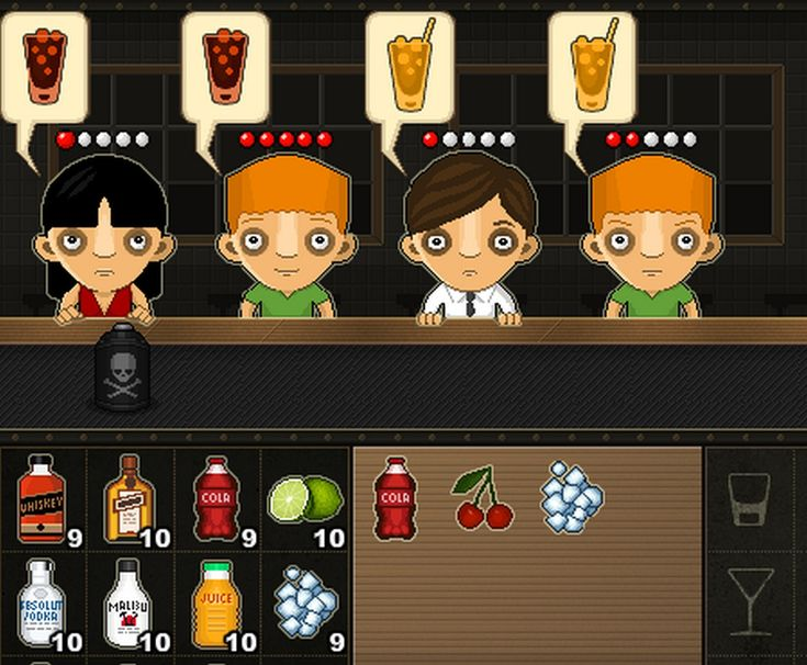 Have You Ever Played  Cocktail Bar GamesFree, try your hand at being a bartender! Armed with hundreds of the best cocktail and drink recipes, you should be able to make some happy customers!  game?