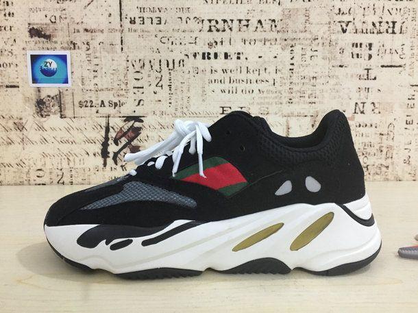 1841eaafa9b46 Adidas Yeezy Wave Runner 700 Core Black Solar Red White 2018 Popular Sneaker