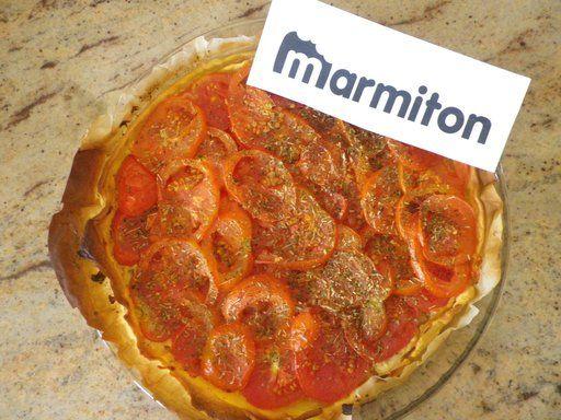 Recette Tarte à la tomate et à la moutarde/Marmiton