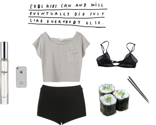 """cool kids eat sushi"" by renachanxoxo on Polyvore"