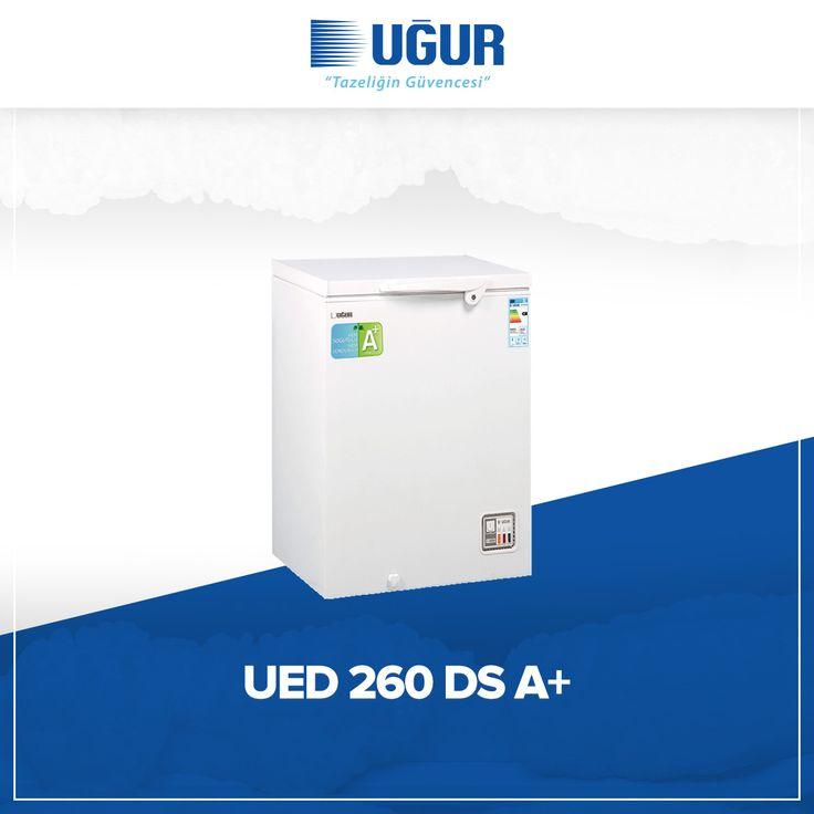UED 260 D/S A+ birçok özelliğe sahip. Bunlar; mekanik ısı kontrol sistemi, iç aydınlatma, hızlı şoklama, gövdeye entegre kilit, su tahliye tıpası, çıkarılabilir tel sepet, hareket kolaylığı sağlayan 4 adet tekerlek (opsiyonel), rahat kullanışlı kapak tutamağı ve 3 farklı mod seçeneği (Dondurucu, soğutucu, sıfır derece chiller). #uğur #uğursoğutma
