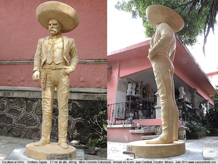General Emiliano Zapata, Monumento, Escultura. Juan Carlos Canfield. Escultor