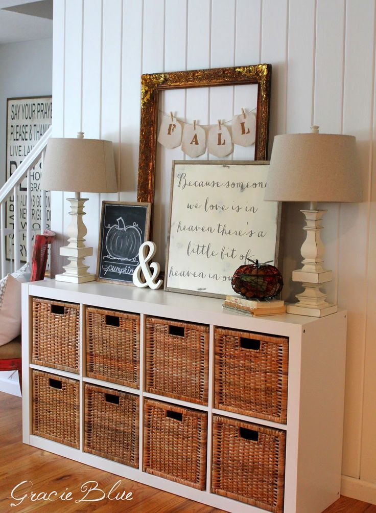 Gracie Blue : Simple Fall Vignette {Fall Home Tour Sneak Peak}