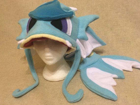 Fleece Pokemon Gyarados Hat
