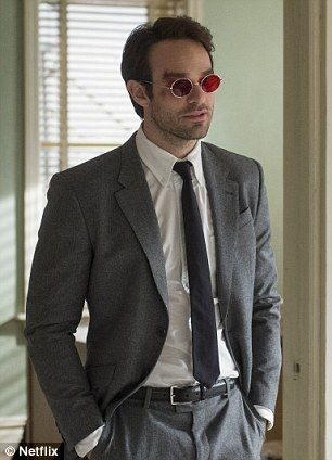 Team up: He joins Charlie Cox who plays the blind superhero on the critically acclaimed Ne...