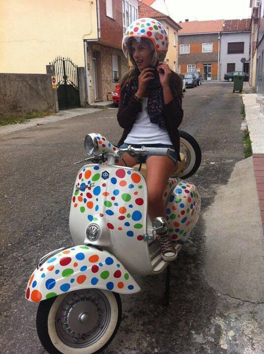 So a cute Vespa!