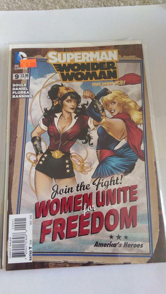 SUPERMAN WONDER WOMAN #9 (2014) DC 52 COMICS BOMBSHELL PINUP VARIANT COVER! NM