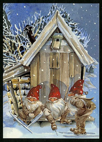 The three Gnomes of hear, see and speak no evil are called: Jet-Ski-See, Ice-Skate-Speaks and Whisper-listener. This nosey trio publish the Gnome Gazette Globe sharing all their hard - found bits of info under the name Pinterest Patty of PNorway.